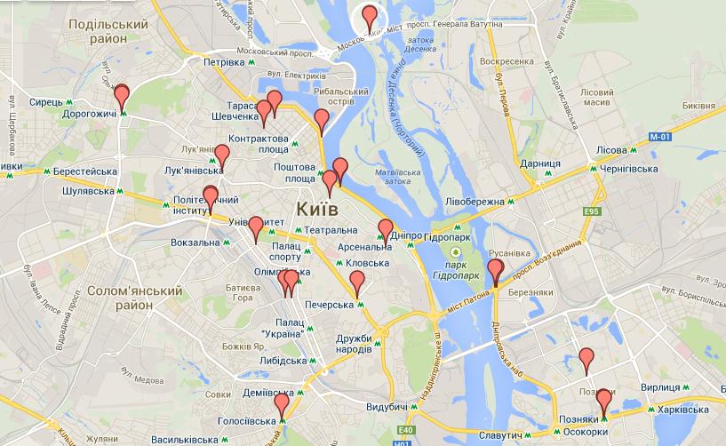 Підрахунок велосипедистів Києва у 2014 році