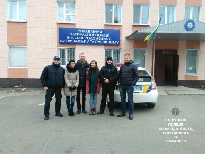 Зустріч АВК з патрульною поліцією на сході
